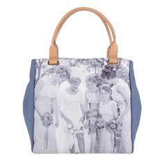 Blue/Natural Canvas Medium Tote Be a Bag Totes Anya Hindmarch Be a Bag
