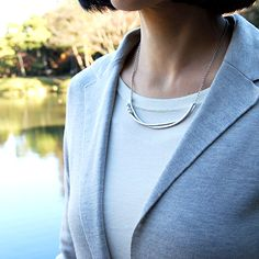 #silver #pearl #necklace by #joidart
