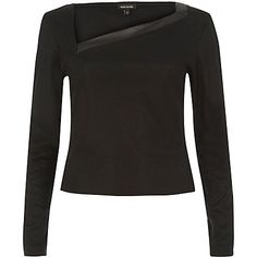 Black diagonal neck top £22.00