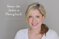 The Small Things Blog: Fix a Hair Emergency : Fake a Ponytail