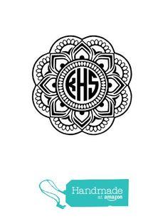 Custom Mandala Monogram Decal Personalized Vinyl Decal For Yeti - Custom vinyl decals for laptop