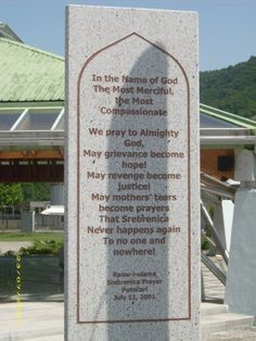 The Srebrenica genocide, July 1995. During the Bosnian War, it was killed more than 8000 Bosnian Muslims in Srebrenica.