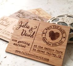 Save the date magnets rustic wedding save by CorkCountryCottage