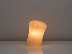 Alabaster Lamp | Angelo Mangiarotti | Società Cooperativa Artieri dell'Alabastro in Volterra | Alabaster, Metal | 1981