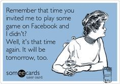 Sorry, no Facebook games