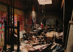 Francis Bacon's London studio transplanted to the Hugh Lane Gallery in Dublin, Ireland.