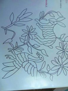 Embroidery Patterns On Kurta Embroidery Thread Knotted Bracelets Herb Embroidery, Mexican Embroidery, Embroidery Flowers Pattern, Hand Embroidery Stitches, Hand Embroidery Designs, Floral Embroidery, Cross Stitch Embroidery, Machine Embroidery, Fabric Painting