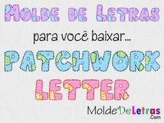 Molde de Letras Patchwork Letter