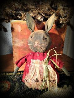 Beatrice Bunny E-Pattern by tfcfolkart on Etsy