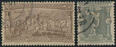 """1896 """"Olympic Games"""" in complete set of 12 values, u. (Hellas 109/120 - 1180E)."""