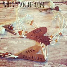Soul sisters are abby and Jessica love u to death Hand Stamped Jewelry, Handmade Jewelry, Girl Birthday, Birthday Gifts, Love You Best Friend, Sister Jewelry, Soul Sisters, Metal Stamping, My Favorite Color