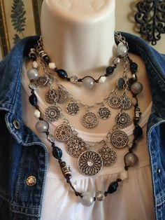 Statement! Love the romantic feel of these necklaces!
