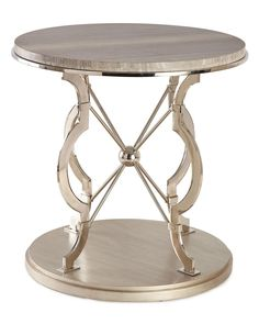 Shop Blissany Side Table at Horchow, where you'll find new lower shipping on hundreds of home furnishings and gifts. Marble End Tables, Mirrored Coffee Tables, Fancy Living Rooms, Orange Bedding, Chrome Finish, Dining Room Table, Living Room Furniture, Home Furnishings, Stone