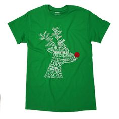 Wordy Reindeer Green Christmas T-shirt was 14.95 NOW 8.97 by Tees2urdoor on Etsy https://www.etsy.com/listing/253311488/wordy-reindeer-green-christmas-t-shirt