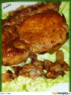 Krkovička na česneku Meat Recipes, Recipies, Snack Recipes, Snacks, Czech Recipes, Russian Recipes, Ethnic Recipes, Pecan Pralines, Tandoori Chicken