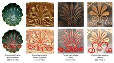 Între secolele VI-III î.e.n., civilizaţiile tracă, etruscă şi greacă clasică utilizau pentru împodobirea obiectelor ceramice, dar şi metalice din bronz, argint şi aur, o reprezentare unitară a pomului vieţii, asemănător unei palmete.