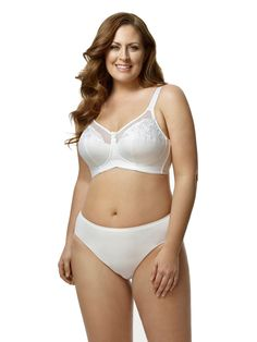 f81b22ee9a4e4 Embroidered Microfiber Softcup Bra by Elila 36B to 54G (US sizing) Plus Size  Bra