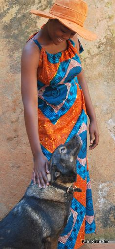 African Print Dress - great color combination!
