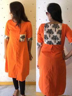 Orange kurti