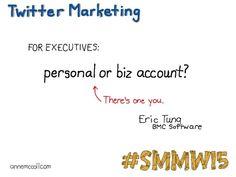 Personal vs. business #smmw15 annemccoll.com #socialmedia
