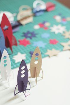 cute little rocket ships