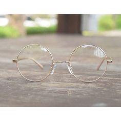 1920s Vintage Round oliver retro eyeglasses 90E43 gold frames kpop peoples find