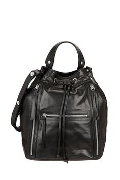 Shopping mode : Sac bandoulière en cuir Le Seau Gérard Darel • La Parisine