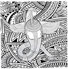 Adult Coloring Book Printable Pages For Adults Instant Download Egyptian 2 Page 6