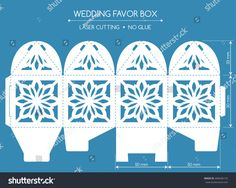 Openwork favor box with a lace ornament. Cajas Silhouette Cameo, Diwali Drawing, Cricut Heat Transfer Vinyl, Hand Crafts For Kids, Packaging Box, Diy Shadow Box, Craft Images, Free To Use Images, Art Template