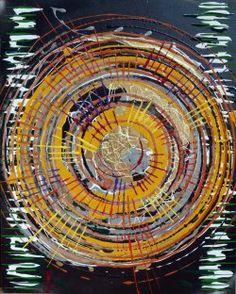 """Giuseppe Marchetti (Italy) """"4_12"""" Smalti, sabbia di mare e pigmento metallico color oro su tavola rinforzata da telaio in legno (sul retro) cm. 50x40"""