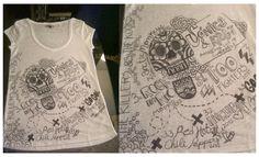 DIY concert t-shirt...    Introducing my concert mate: Mónica