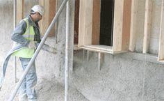 Hemp Building Materials                                                           Spraying Hempcrete