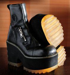 b3fc1527b483 Unique DESTROY super high platform boots 90 s Club Kid Grunge Gothic 90s  boots vintage killler boots chunky clubkid platform goth boots docs