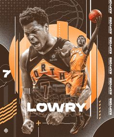 Personal Project for Kyle Lowry of Toronto Raptors Basketball Posters, Basketball Design, Football Design, Basketball Art, Sports Posters, Toronto Raptors, Raptors Wallpaper, But Football, Sports Graphic Design