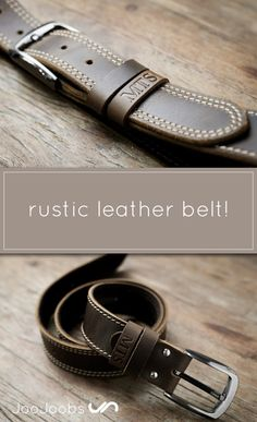 Mens Leather Belt.  This belt is a brown with natural tan thread.  Make this belt the next key addition to your wardrobe.