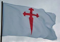 Flag of the Cross of St James of Compostela by Bandeira Galega. $22.95. Two brass eyelets. Material: polyester. Size: 150x90cm (3'x5'). The red cross over a white field is the most popular Christian cross of all times. The cross is the symbol of Christianity and God's protection; the white colour is the symbol of purity and the red colour symbolises the blood of Christ. The red cross over a white field was used regularly during the Middle Ages, among others, by the Fr...