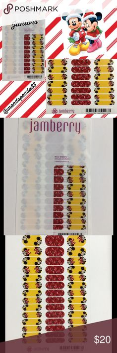 Jamberry by Disney Ear to Ear Jr.' Nail Wraps NWT and ADORABLE!! These are perfect for ANY Mickey and Minnie Mouse fan! Please check out my Holiday Jamberry BOGO Sale! Instructions sent with purchase! Jamberry Accessories
