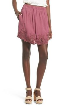 ASTR ASTR 'Heart of Gold' Lace Detail Skirt available at #Nordstrom