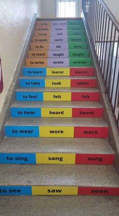 Hallway Art, Stair Decor, School Decorations, Classroom Design, Quotes For Kids, Learn English, How To Know, Playground, Middle School