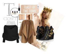 """Toast of the town"" by karriebradshaw on Polyvore featuring Giuseppe Zanotti, Bobbi Brown Cosmetics, Kate Spade, WithChic, MAC Cosmetics, Balmain, Seletti, karriebradshaw and karriefever247"