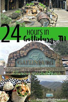 24 Hours In Gatlinburg, Tennessee - Drugstore Divas Gatlinburg Tennessee Attractions, Gatlinburg Vacation, Tennessee Vacation, Gatlinburg Tn, Vacation Trips, Vacation Spots, Vacation Ideas, Vacation Destinations, Smoky Mountains Tennessee