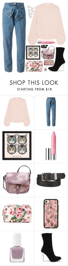 """#coffeedate"" by altrisa-mulla ❤ liked on Polyvore featuring Victor Glemaud, DKNY, Gucci, Clinique, Mellow World, Wrangler, Dolce&Gabbana, Casetify, tenoverten and By the Way."