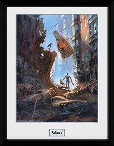 Fallout Poster im Rahmen Street Scene 30 x 40 cm