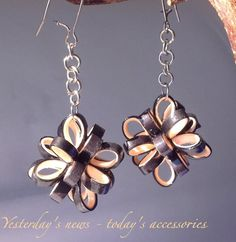 Quilled paper earrings by papersbynena on DeviantArt
