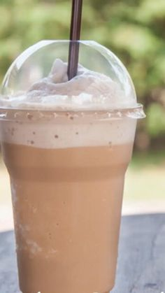 The BEST Homemade Frappuccino Recipe! - - Save money by making your regular frappuccino at home! Coffee Drink Recipes, Starbucks Recipes, Milkshake Recipes, Cold Coffee Drinks, Starbucks Drinks, Blended Coffee Recipes, Healthy Iced Coffee, Blended Coffee Drinks, Homemade Iced Coffee