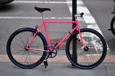 SEEN ON THE STREET: radiation pink Samson by sashae, via Flickr