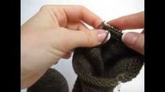 knitted socks on 9 inch circular needle - YouTube