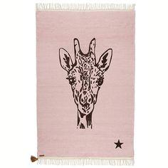 Tapis Varanassi - Girafe Rose