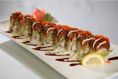 Feeling up to a challenge? Attempt to eat our 18-piece sushi special! Select 18 piece sushi rolls and dig in. We forecast that your sushi eating challenge will be a success. Come on in! http://www.kitstayasushi.com/menu_9.html
