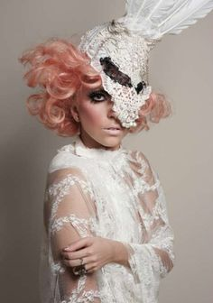 Lady Gaga's Lace Mask | LacedAndWaisted